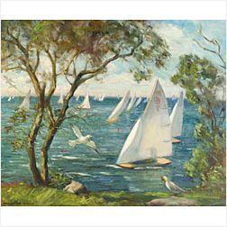 Marguerite Stuber Pearson (American, 1898-1978)  Rockport Regatta
