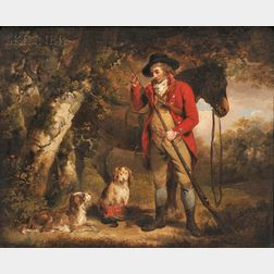 Attributed to George Morland (British, 1763-1804)      Wood Cock & Pheasant Shooting