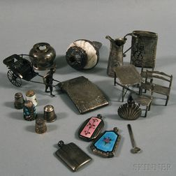 Group of Miscellaneous Small Mostly Silver Objects