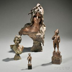 Four Cast Metal Figures