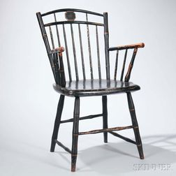 Painted Square-back Windsor Armchair