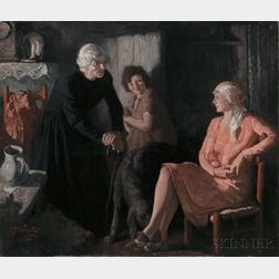 Edmund Franklin Ward (American, 1882-1991)      The Modern Woman Goes Home