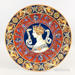 Large Ceramic Charger Depicting Queen Victoria