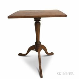 Country Maple Tilt-top Candlestand
