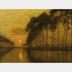 Charles Warren Eaton (American, 1857-1937)        The Bruges Canal