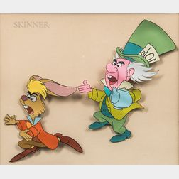 Walt Disney Studios (American, 20th Century)      Cel from Alice in Wonderland: The Mad Hatter and March Hare
