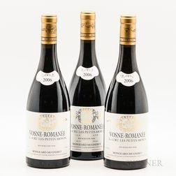 Mongeard Mugneret Vosne Romanee Les Petits Monts 2006, 3 bottles