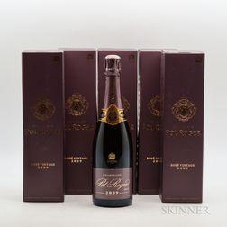 Pol Roger Rose 2009, 6 bottles (ind. pc)