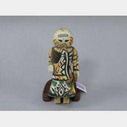 Native American Painted Wood Tourist Katsina.