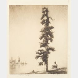 Levon West (American, 1900-1968)    Pine and Sapling, Glacier Park