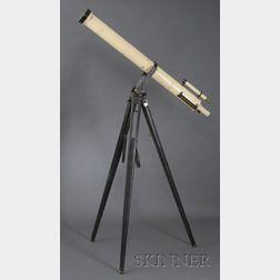 Alvan Clark 5-inch Refracting Telescope on Tripod