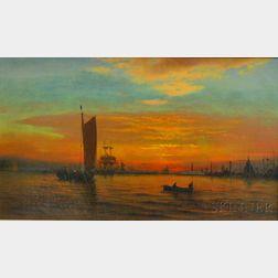 C.T. Lippitt (American, 19th Century)      New York Harbor.