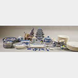 Large Group of Assorted Mostly Blue and White Ceramics