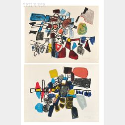 Guillaume Cornelis van Beverloo, known as Corneille (Dutch, 1922-2010)      Two Works: Heure matinale