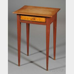 Federal Red-stained Birch One-drawer Stand