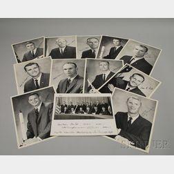 Eleven NASA Astronaut Autographed Portrait Photograph Prints