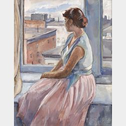 Tosca Olinsky (American, 1909-1984)      Girl at the Window
