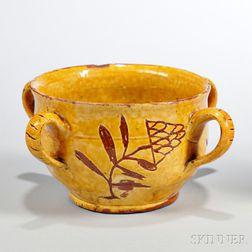 Slipware Caudle Bowl