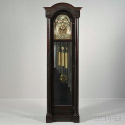 Smith Patterson Mahogany Nine Tubular Bell Chime Clock