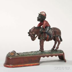 "Cast Iron ""Always Did 'Spise a Mule"" Mechanical Bank"