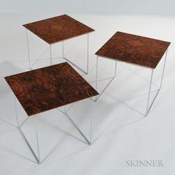 Three Scandinavian Design Low Side Tables