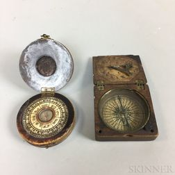 Two Pocket Compasses