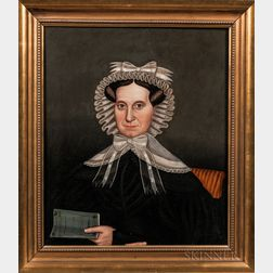Milton Hopkins (New York, Connecticut, Ohio, 1789-1844)      Mrs. Clarissa Hovey AE 52, 1830