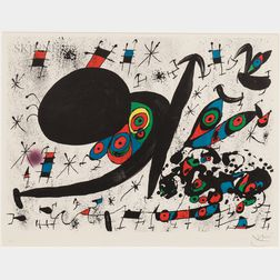 Joan Miró (Spanish, 1893-1983)      Plate Twelve