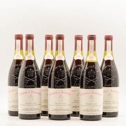 Chateau Beaucastel Chateauneuf du Pape 1989, 7 bottles