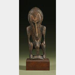 New Guinea Carved Wood Figure