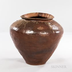 Monumental Woodfired Ash-glazed Jar, Tsubo