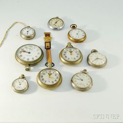 Nine Pocket Watches