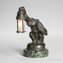 M. LeVerrier (1891-1973) Art Deco Monkey Lamp