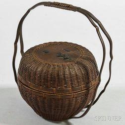 Covered Copper Basket