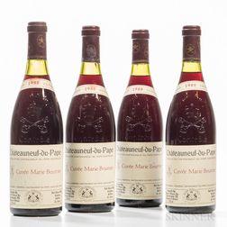 Henri Bonneau Chateauneuf du Pape Cuvee Marie Beurrier 1988, 4 bottles