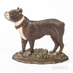 Cast Iron Bull Terrier Doorstop