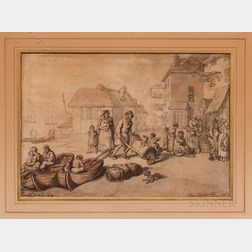 Thomas Rowlandson (1756-1827) Two Watercolors.