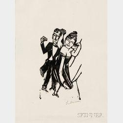 Max Beckmann (German, 1884-1950)      Kleines tanzendes Paar
