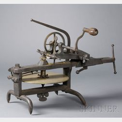 Brass, Steel and Wrought Iron Wheel Cutting Engine