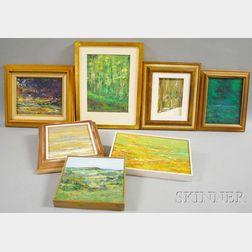 John Mulcahy (American, b. 1931)      Seven Abstract Landscapes