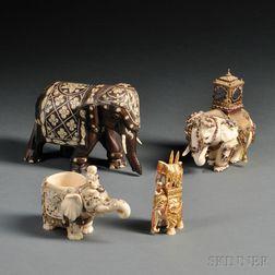 Four Caparisoned Elephants