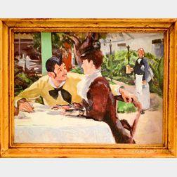 Edmund Franklin Ward (New York, 1892-1991)      Cafe Scene