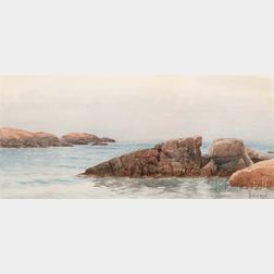 Alfred Thompson Bricher (American, 1837-1908)      Rocky Coast