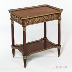 Louis XVI-style Ormolu-mounted Mahogany Table a Ecrire