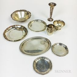 Nine Pieces of American Sterling Silver Tableware