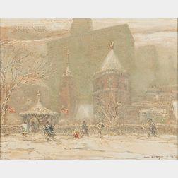 Johann Berthelsen (American, 1883-1972)      Little Church Around the Corner