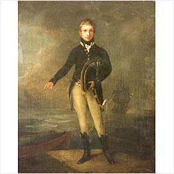 Attributed to Samuel Nelson Abbott (British, 1874-1953)  Portrait of Lord Nelson