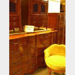 Eight-Piece John Widdicomb Co. Louis XV Style Cherry Bedroom Suite