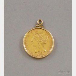 1886 Liberty Half Eagle Coronet Gold Coin