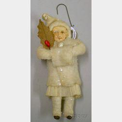 Small Girl Cotton Batting Tree Ornament